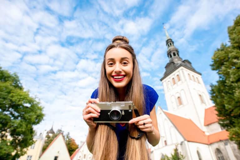 saint Nicholas church in the old town of Tallinn